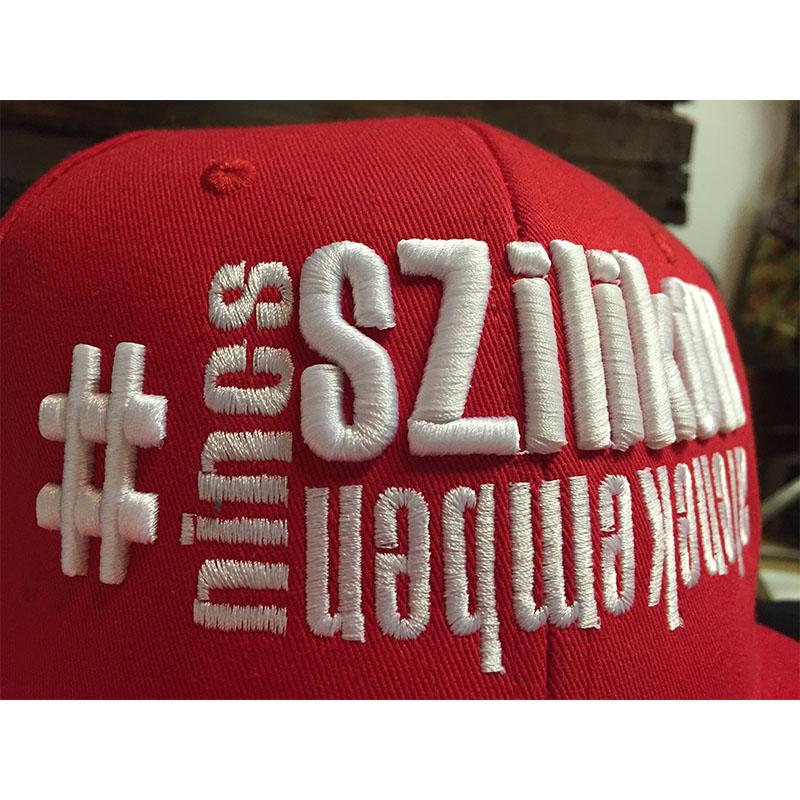 3D sapka hímzés egyedi sapka neked a t-shirts.hu tervezővel 5702cf4cf2