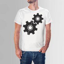 Gépészmérnök póló fogaskerék minta a gépészet szerelmeseinek