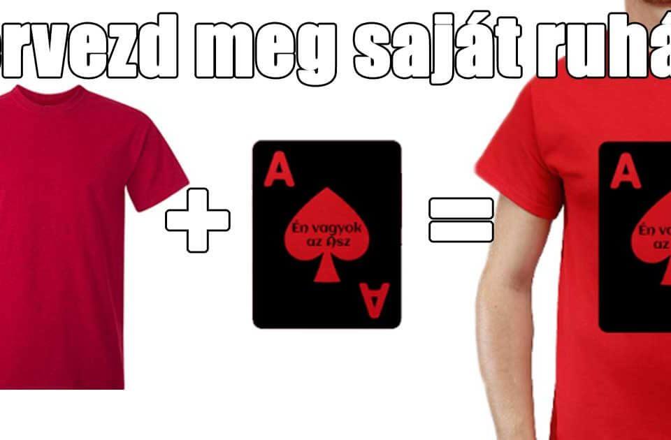 Pólótervező segítségével TERVEZD MAGAD egyedi ruhádat