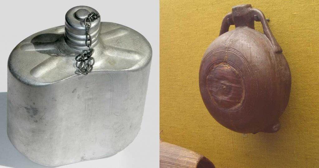 Egyedi kulacs - Fém és egy fakulacs található a képen. / Fotó: wikipedia
