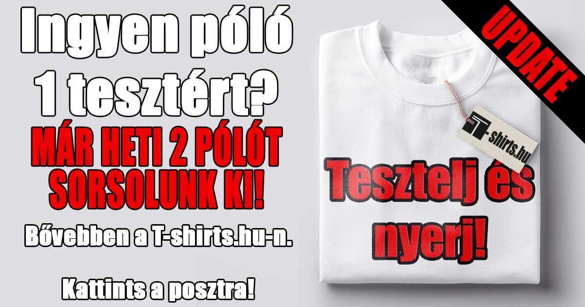 Ingyen póló - Teszteld a T-shirts.hu -t és nyerj!
